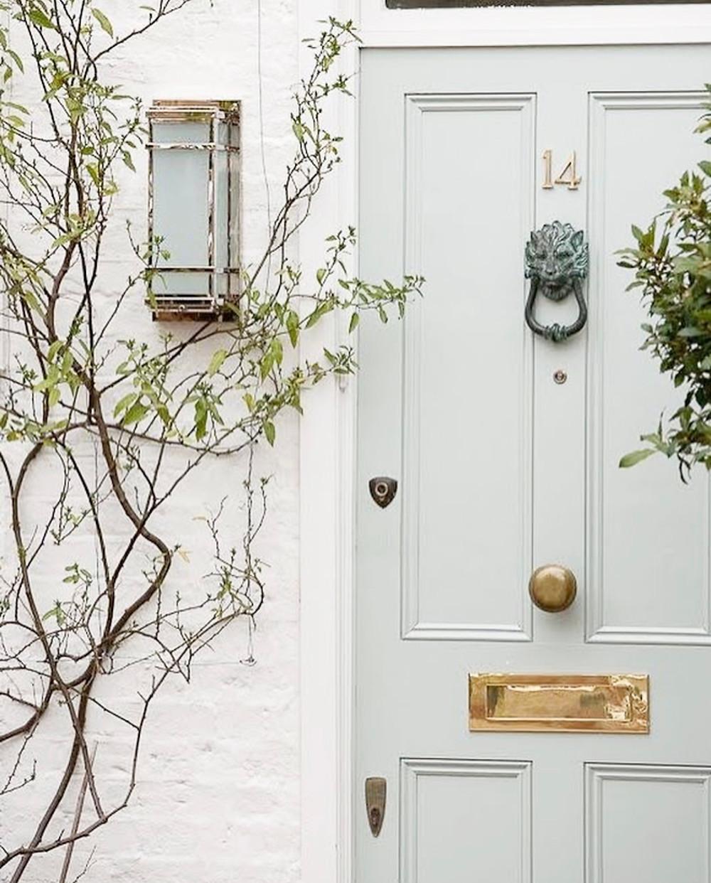 pastel front door