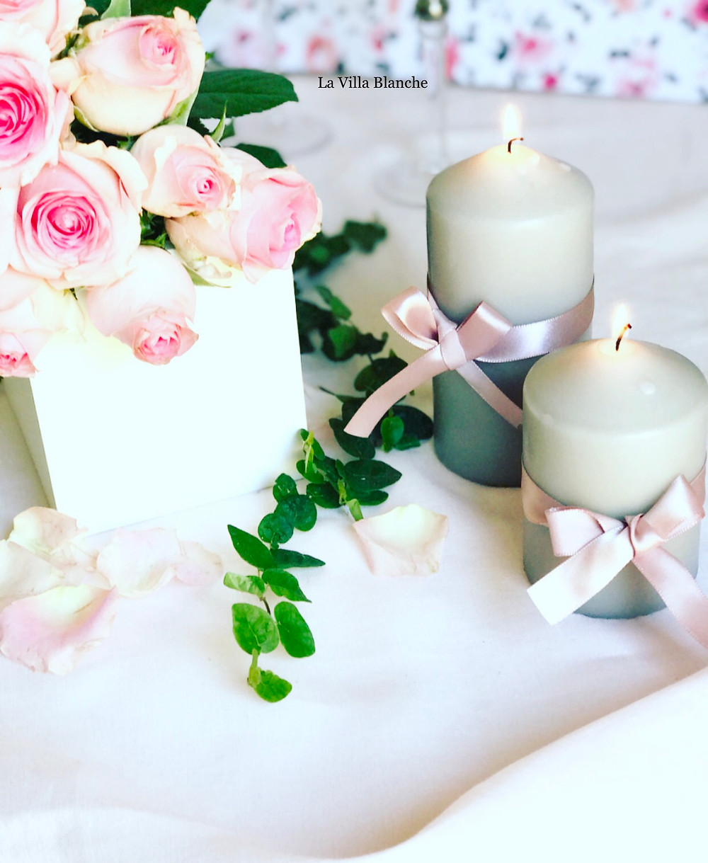 candles & roses