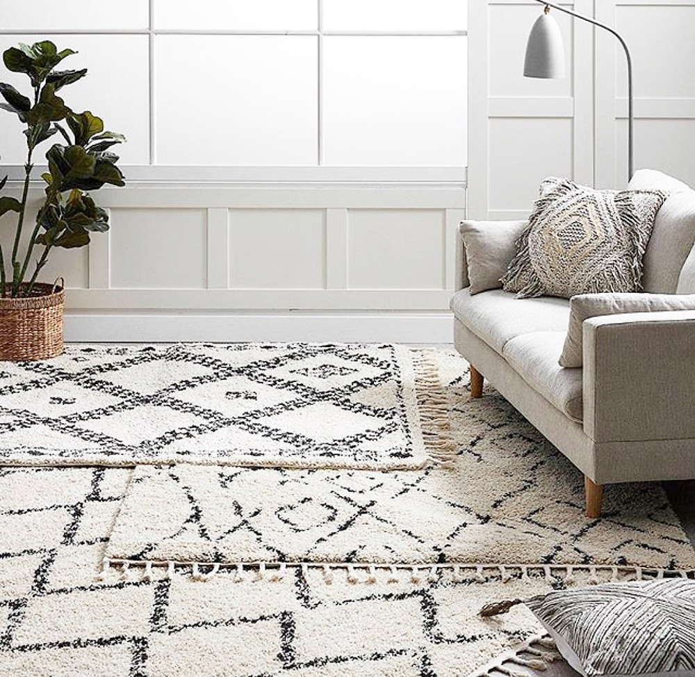 Layering of rugs