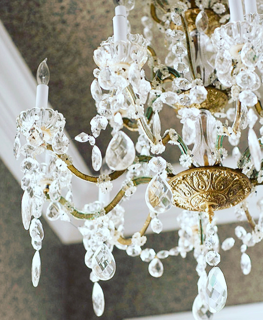 French Gold crystal chandelier
