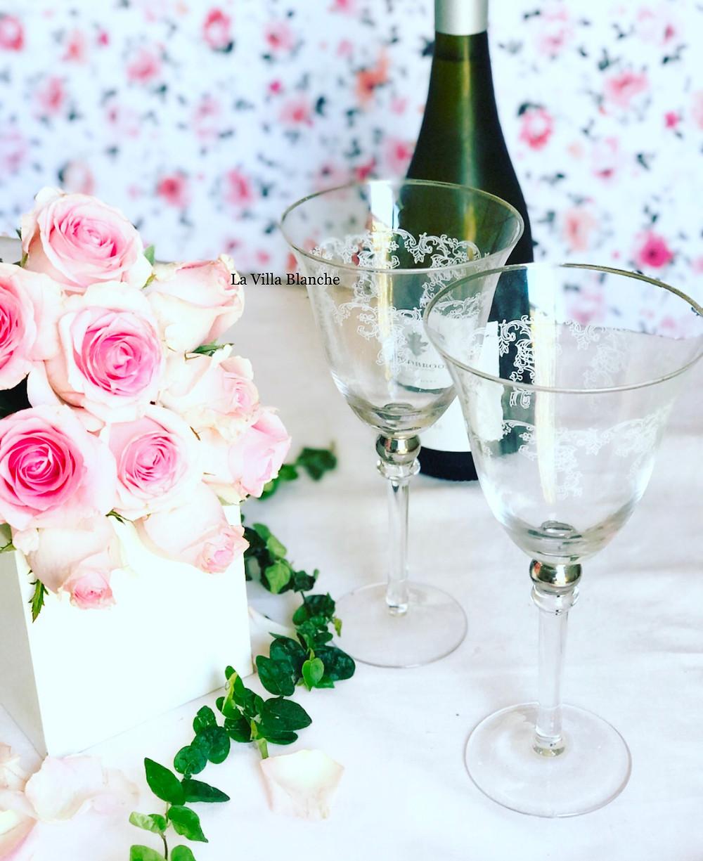 wine & wine glasses