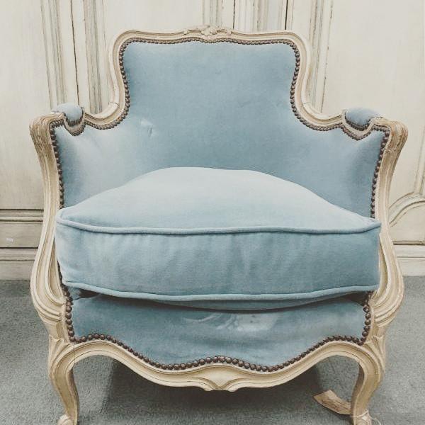 Elegant blue armchair