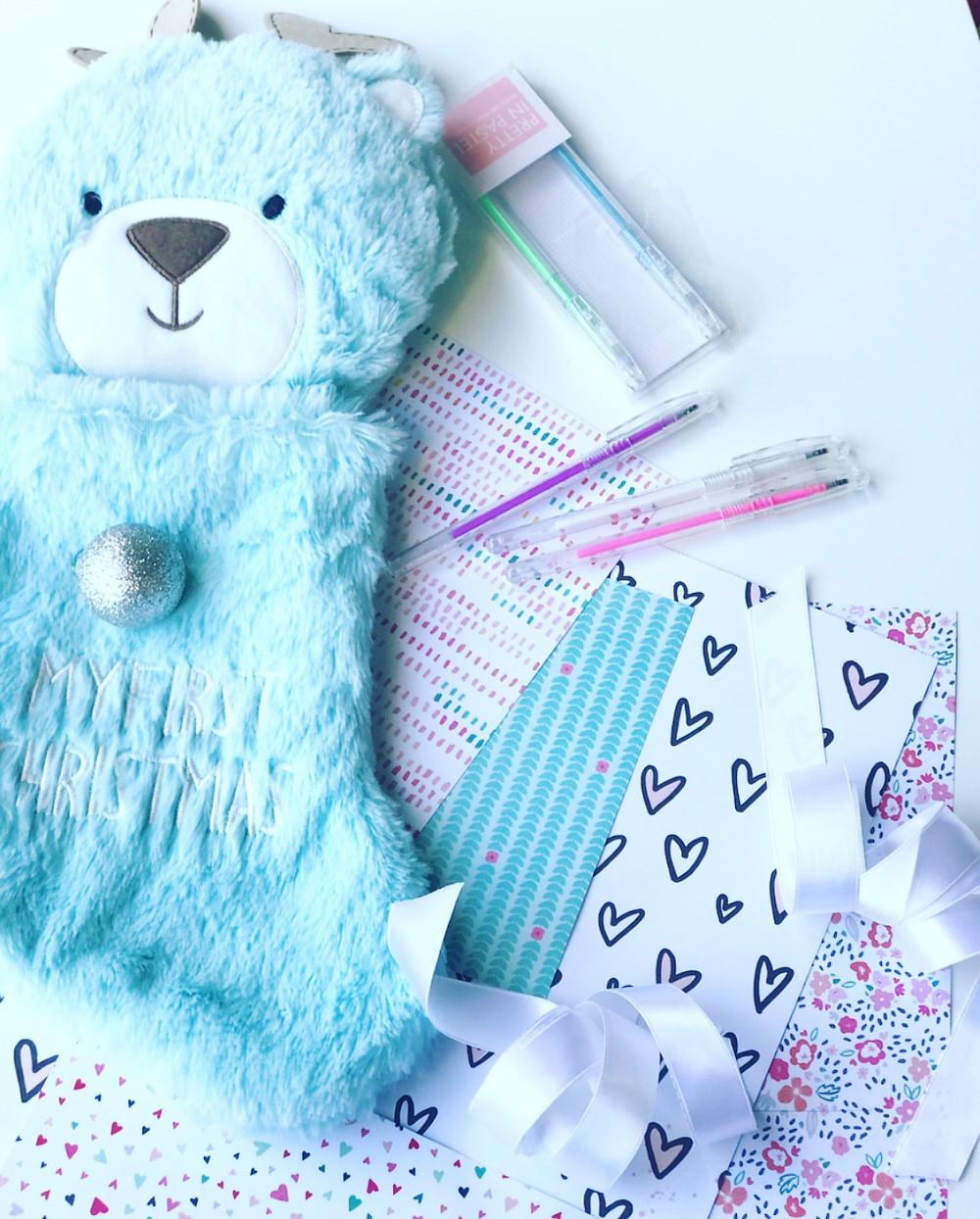 gift paper & pastel pens