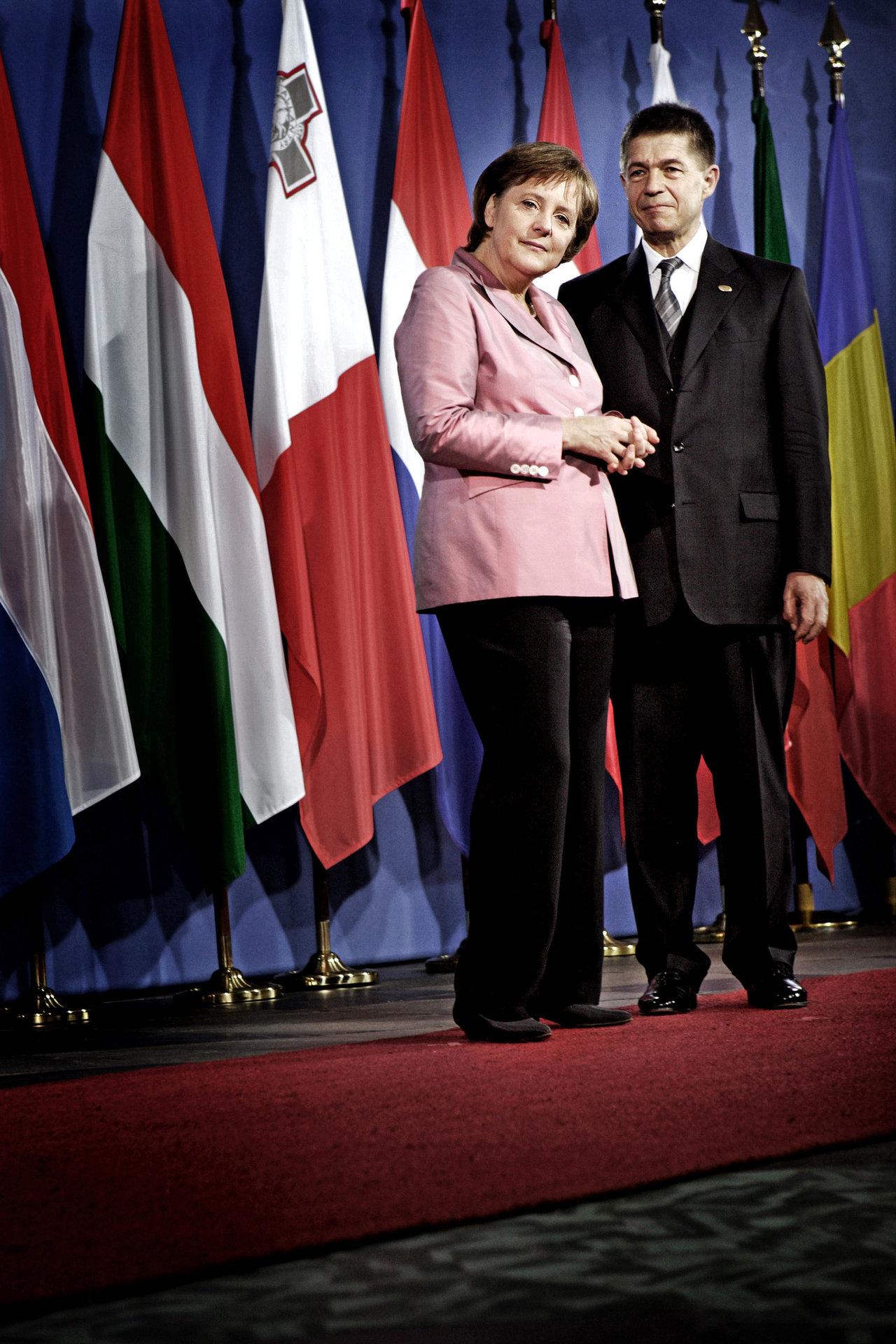 Angela Merkel and her husband