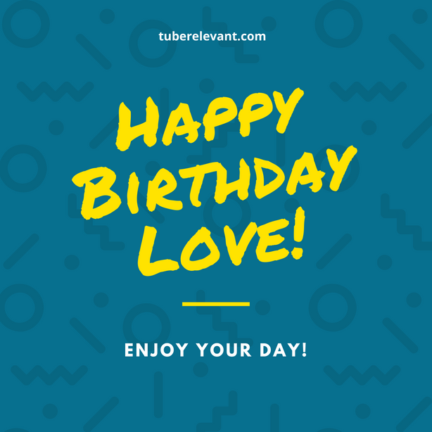 Happy Birthday Image (enjoy your day) for Boss | Tube Relevant