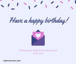 Happy Birthday Image (Sending Hugs) for Cousin | Tube Relevant