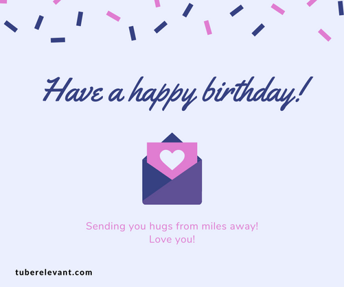 Lavender Heart Illustrated Birthday Face