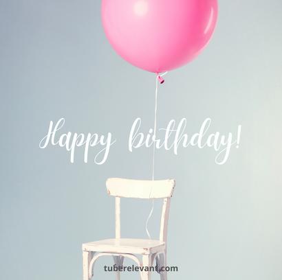 Happy Birthday Image (Balloon - light) for Cousin | Tube Relevant