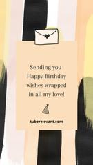 Instagram Stories - Happy Birthday! Abst