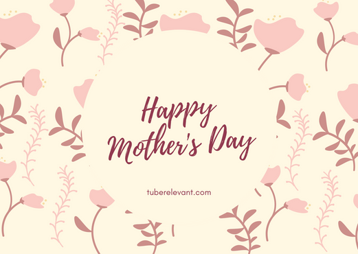Yellow Pink Floral Pattern Mom Birthday