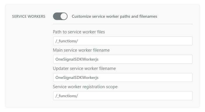 Service Workers Customization in OneSignal