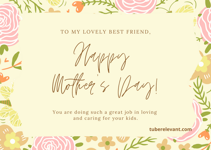 Pink Illustrated Floral Mother's Day Car