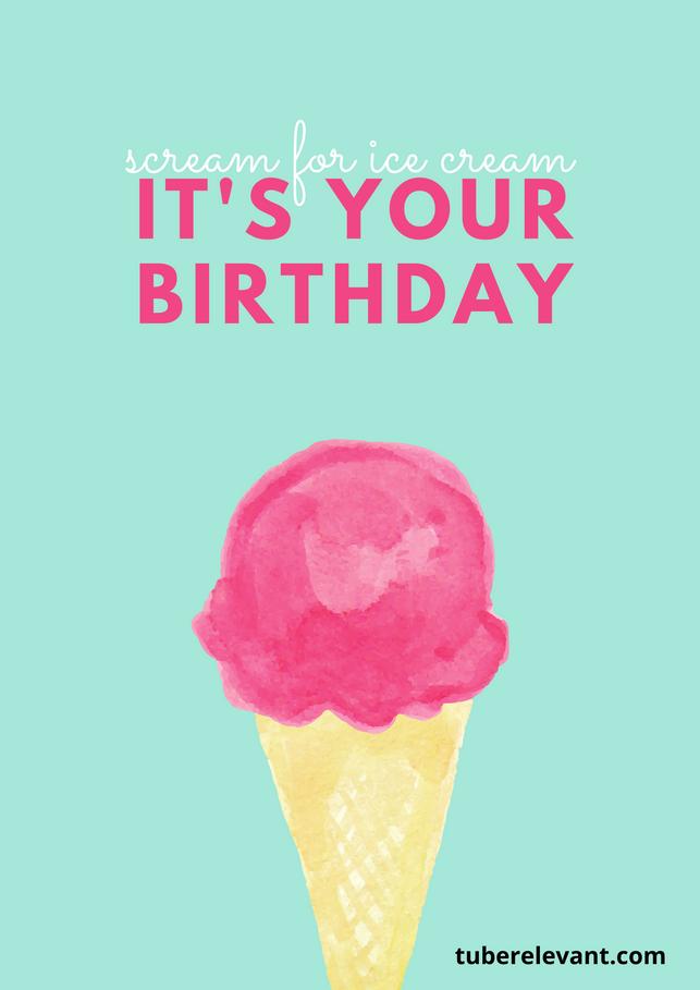 Happy Birthday Image (ice-cream) for Cousin | Tube Relevant