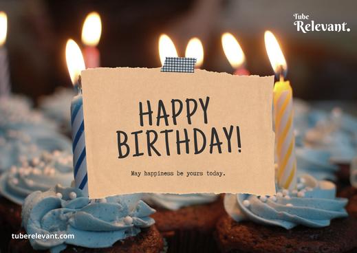 Balloon Themed Cute Happy Birthday Card.