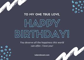 Grey Handwritten Happy Birthday Boyfrien