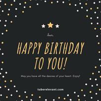 Happy Birthday Polka Dots Social Media P