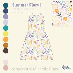 Summer Floral dress mockup