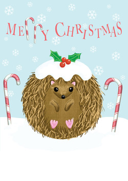 Hedgehogs Christmas