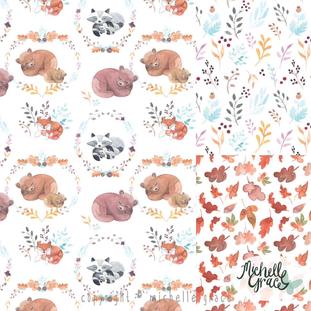 Sleepy Woodland Animals Collection
