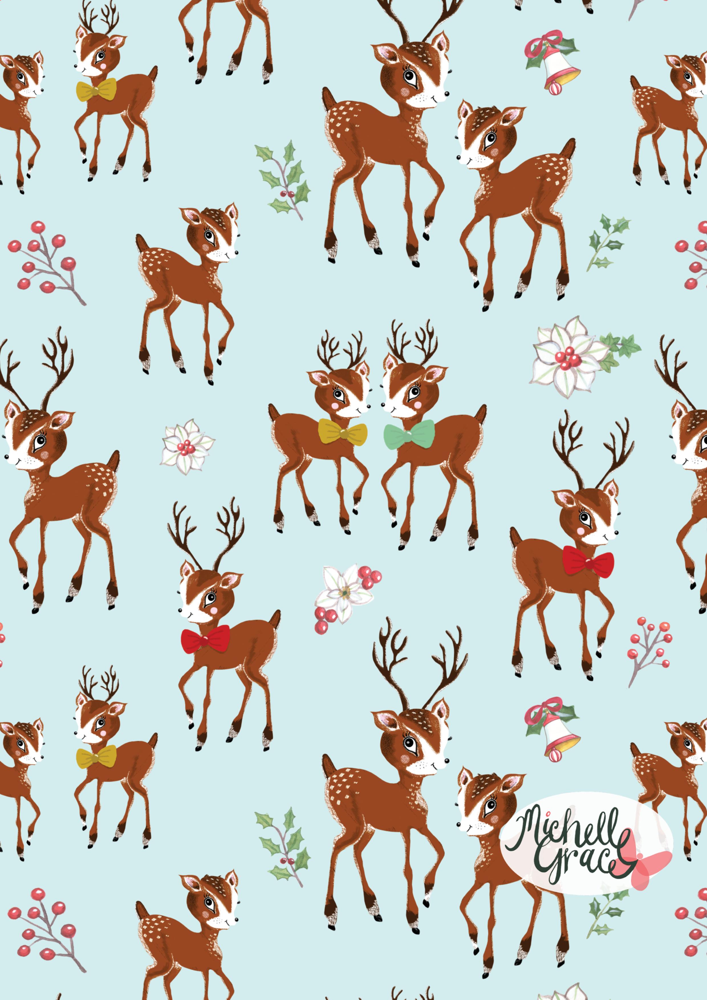 Reindeers Vintage Christmas