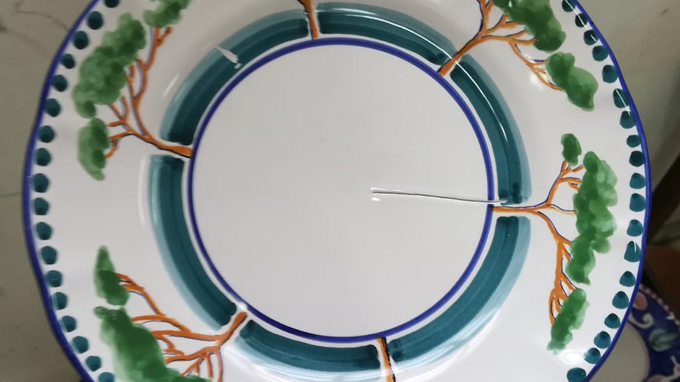 Pino Tree Plate, Handmade in Italy