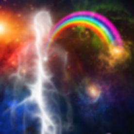 light body with rainbow from heart withi