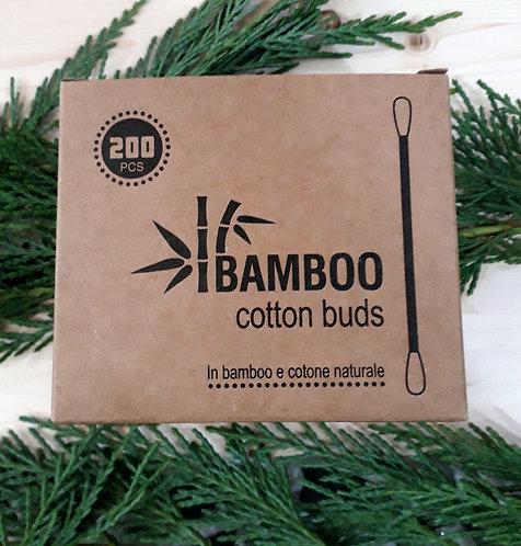Cotton fioc in bamboo