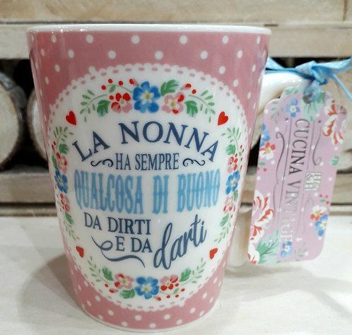 Tazza in ceramica con dedica