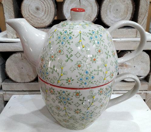 MIDORI tea for one, decorato a mano