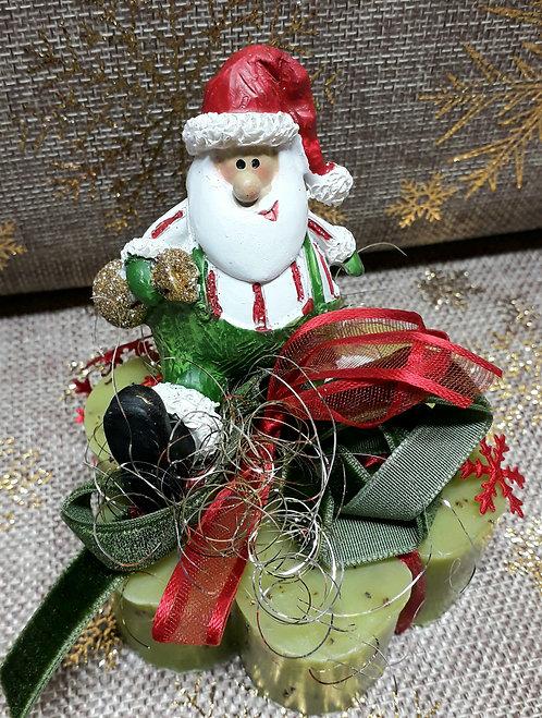 Babbo Natale su sapone artigianale