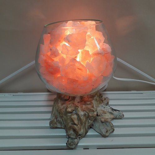 LAMPADA UNICA base legno bianco