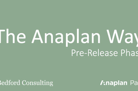 The Anaplan Way: Pre-Release Phase