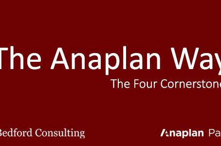 The Anaplan Way: The Four Cornerstones
