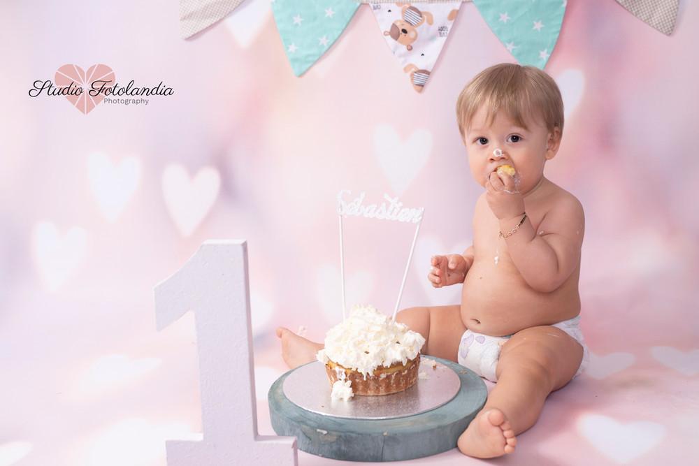 smash cake - photographie anniversaire G
