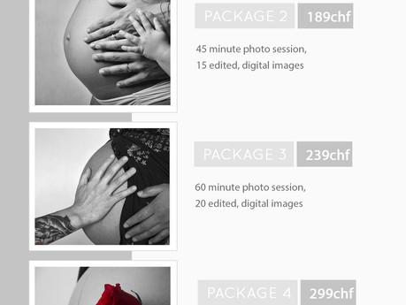 Liste de prix pour les séances de photos de grossesse 2020