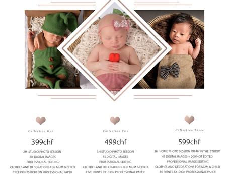 Prix séance photo nouveau-né + famille