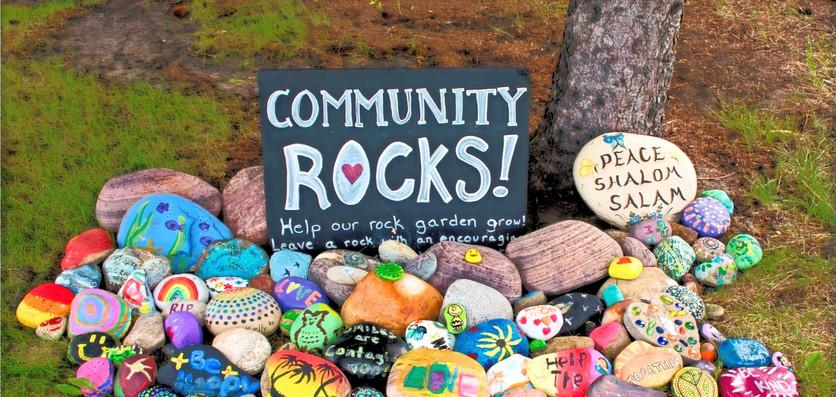 community rock garden
