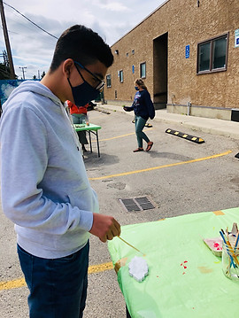 Youth Painting in Calgary