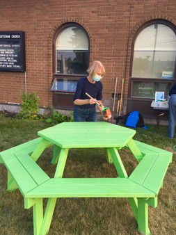 Picnic table painting