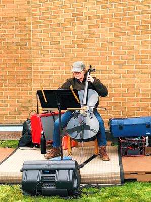 Music at community event