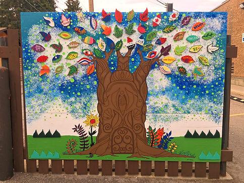 Knox's tree mural