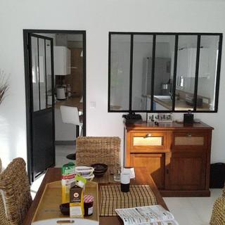 salle à manger et verrière cuisine