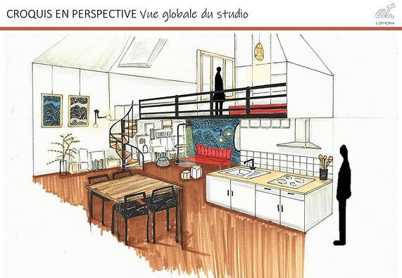 croquis_vue_ensemble_studio_aménagé_RDC.