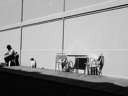 homme et chien noir et blanc.JPG