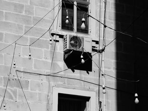 mur ciment noir et blanc