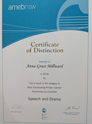 AMEB Certificate of Distinction