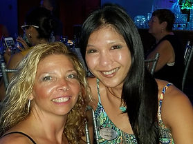 Corry Ticknor with Shirley Lew of Oceania Cruises