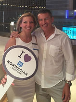 Corry Ticknor owner of Gotta Go Travel TPI with Andy Stuart of Norwegian Cruise Lines Virtuoso Week Las Vegas 2016