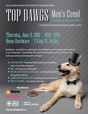 Top Dags Men's Event in support of Orillia Animal Centre