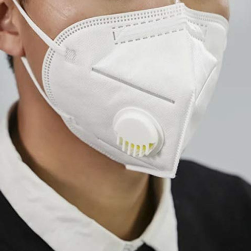 Cotson 5 Layers Antibacterial KN95 Safety Mask With Air Filter Reusable (Pk f 3)